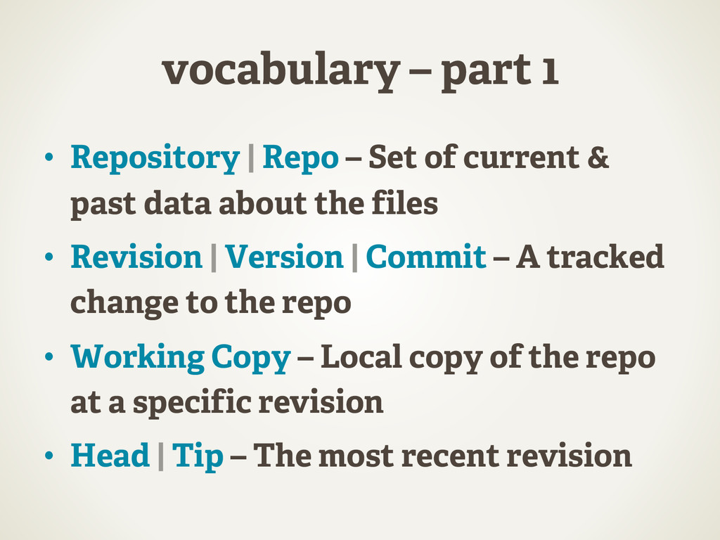 vocabulary – part 1 •  Repository | Repo – Set ...
