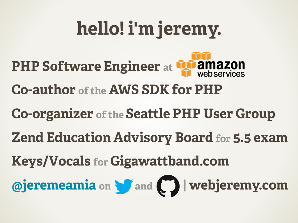 hello! i'm jeremy. PHP Software Engineer at Co-...