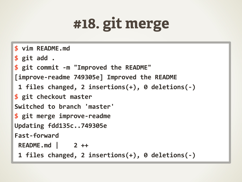 #18. git merge $	