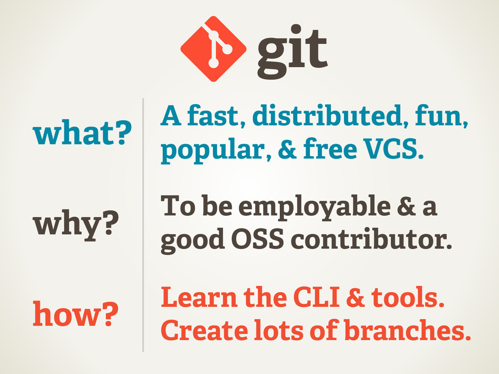 git why? how? what? A fast, distributed, fun, p...