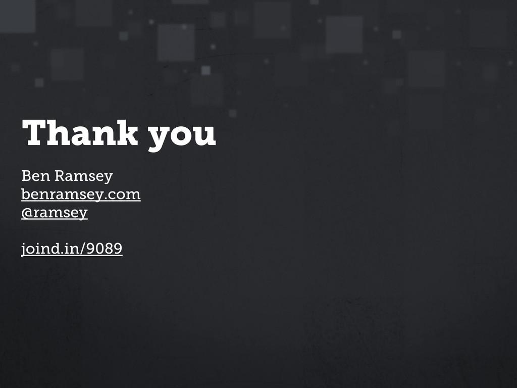 Ben Ramsey benramsey.com @ramsey joind.in/9089 ...