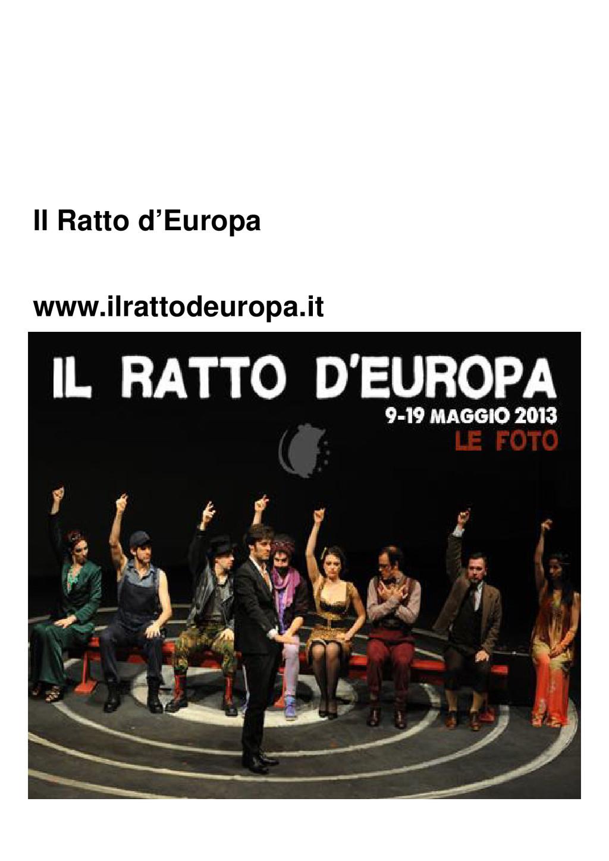 Il Ratto d'Europa www.ilrattodeuropa.it