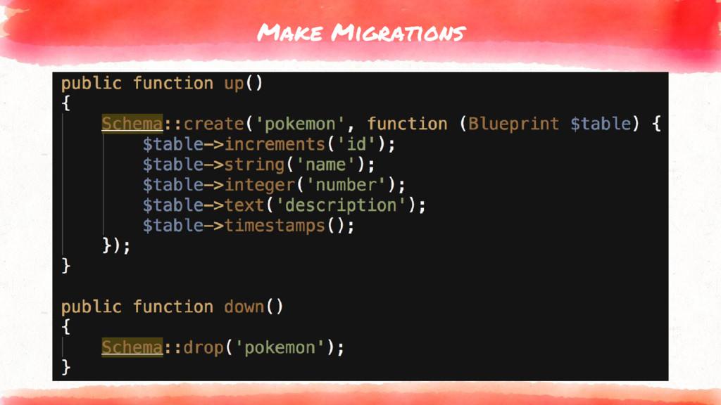 Make Migrations