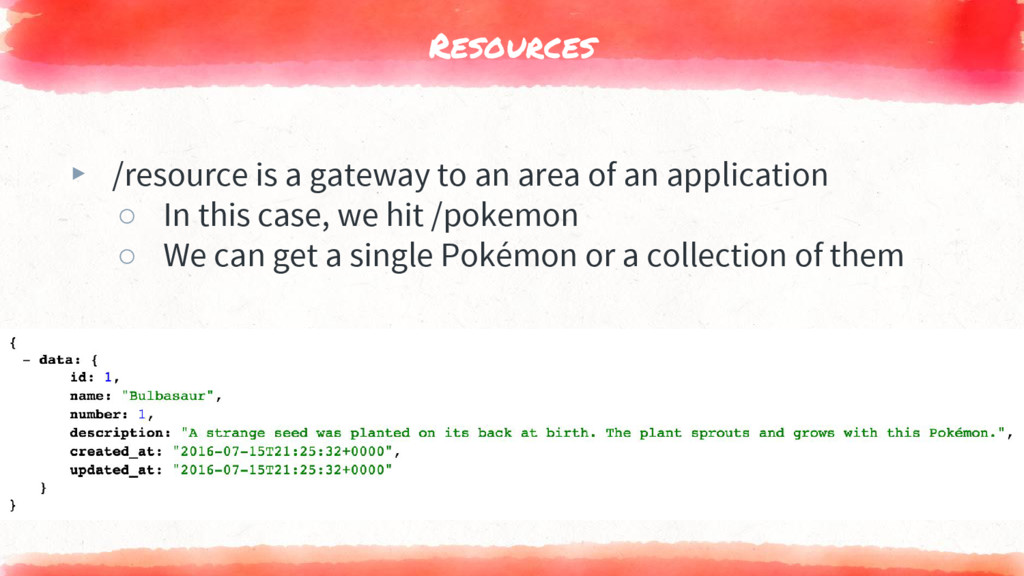 Resources ▸ /resource is a gateway to an area o...