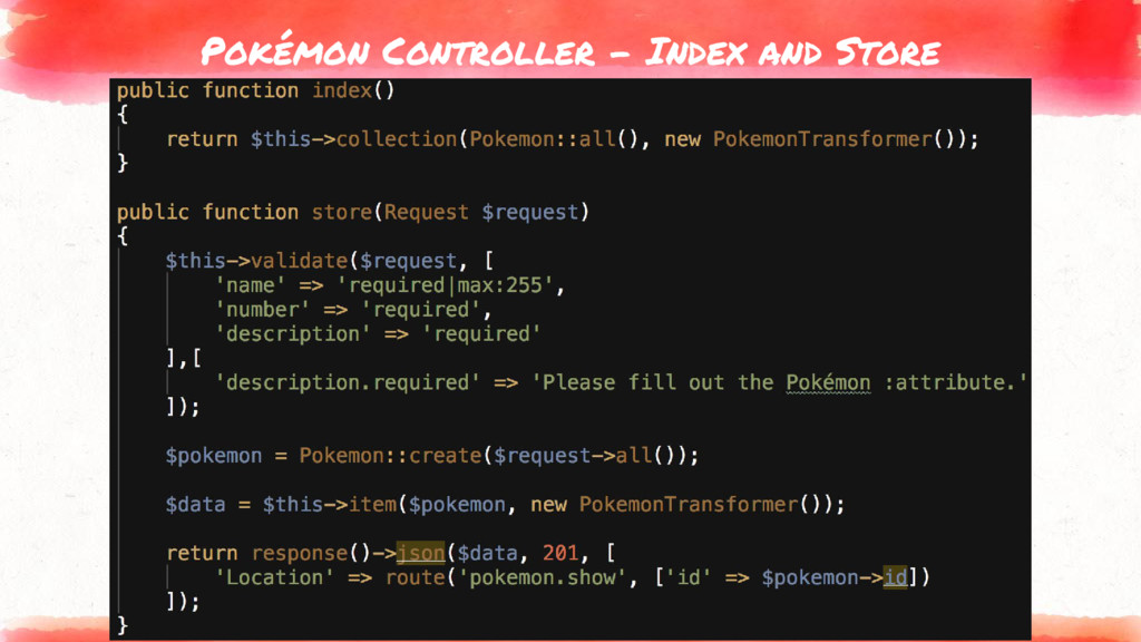 Pokémon Controller - Index and Store