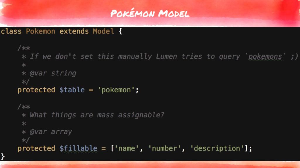 Pokémon Model