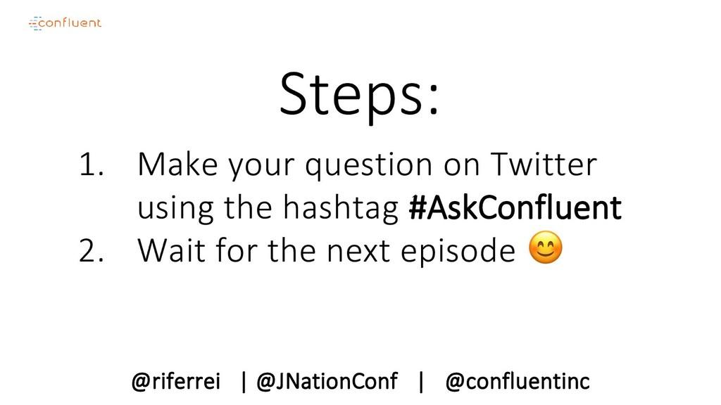 @riferrei   @JNationConf   @confluentinc Steps:...