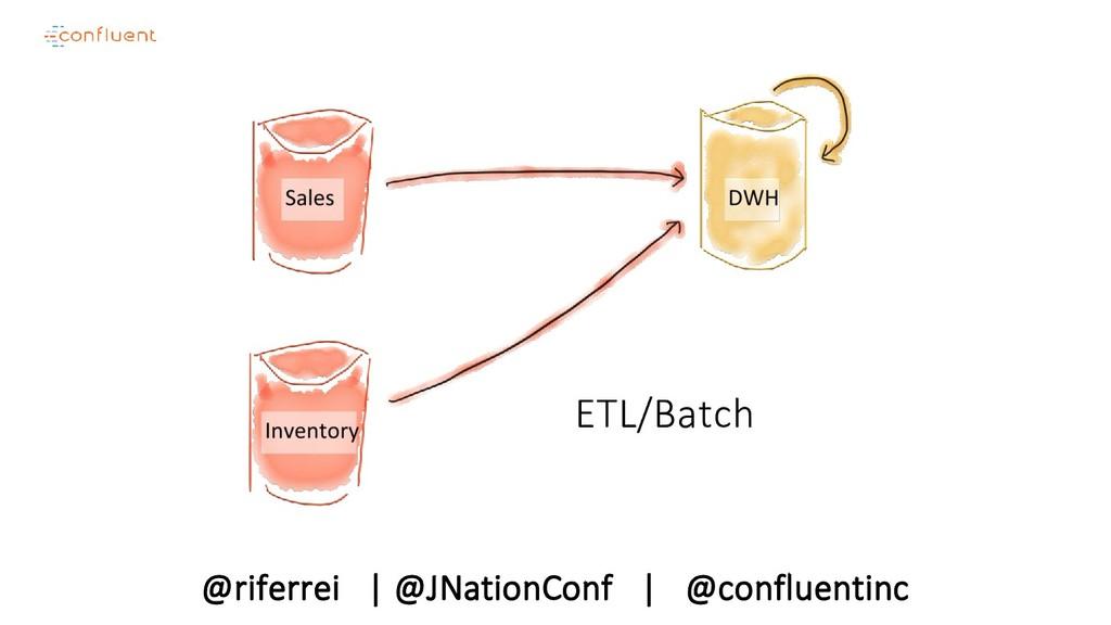 @riferrei   @JNationConf   @confluentinc ETL/Ba...
