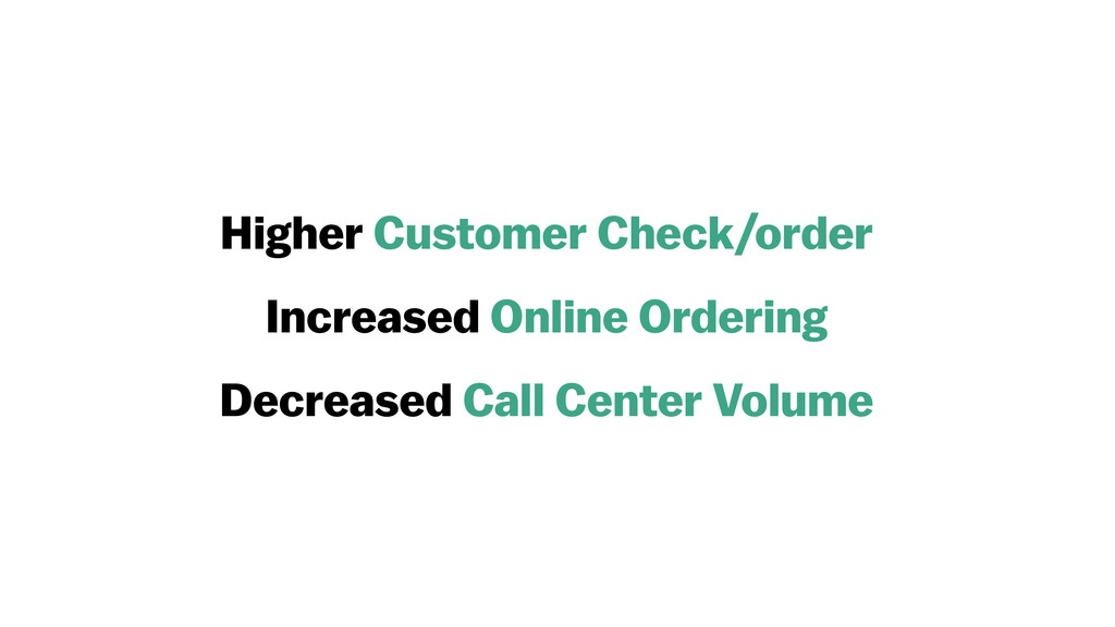 Higher Customer Check/order Increased Online Or...