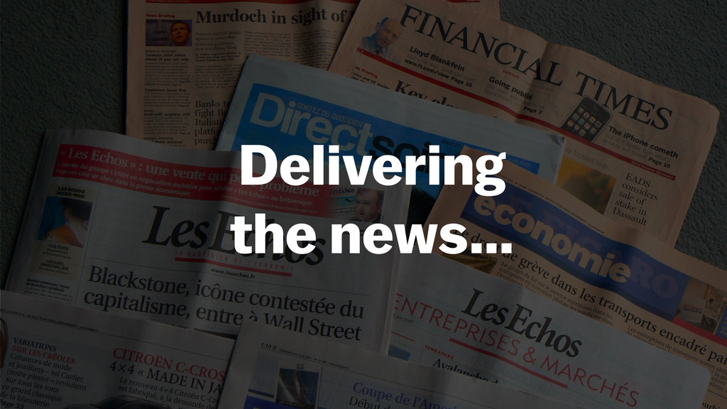 Delivering 