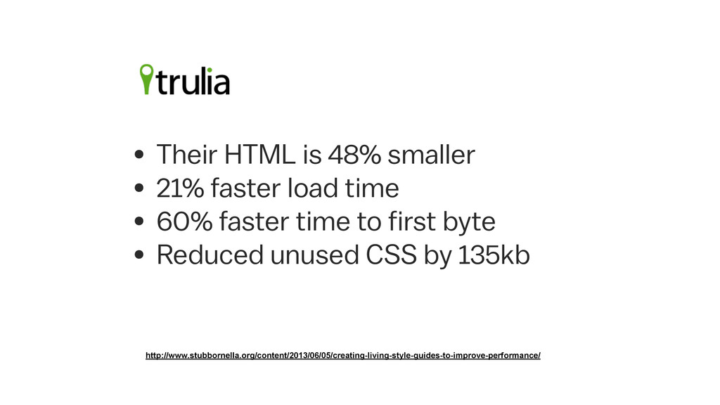 • Their HTML is 48% smaller • 21% faster load t...