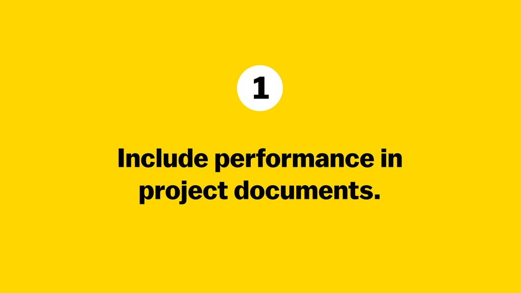 Include performance in 