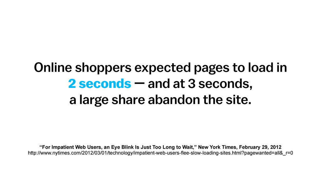Online shoppers expected pages to load in 