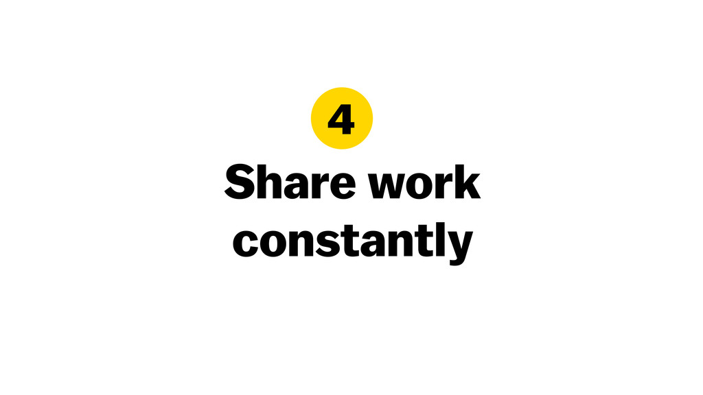 Share work constantly 4