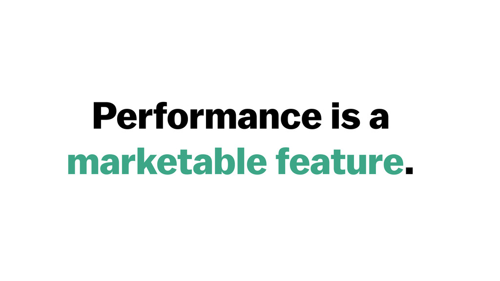 Performance is a 