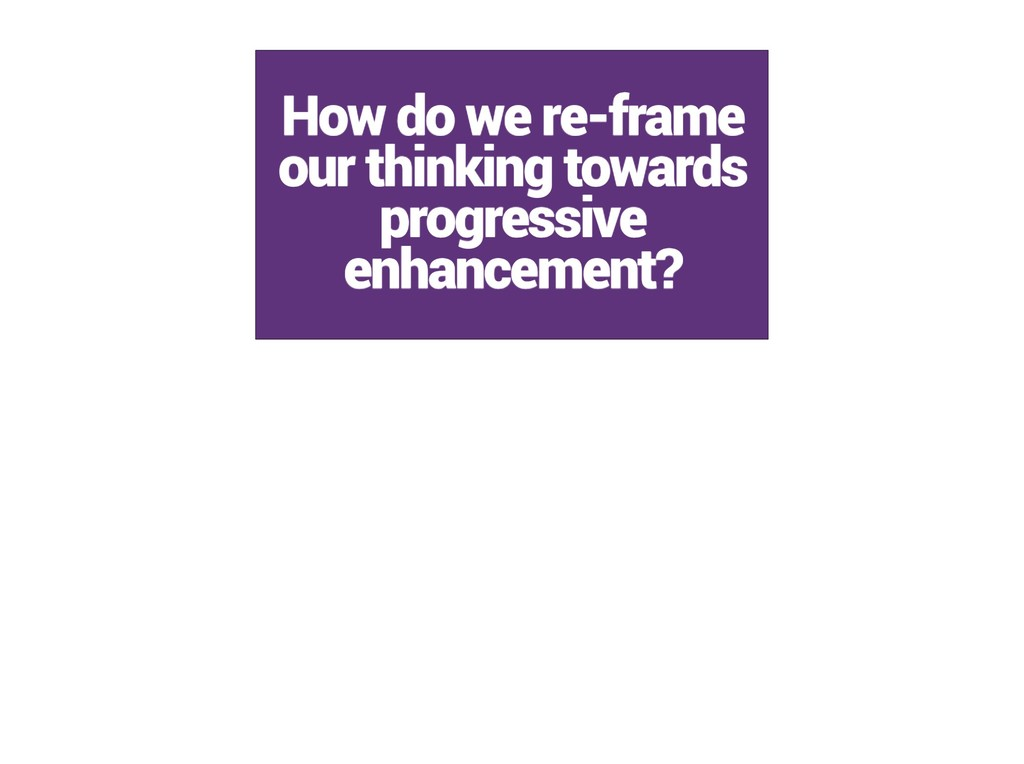 How do we re-frame our thinking towards progres...