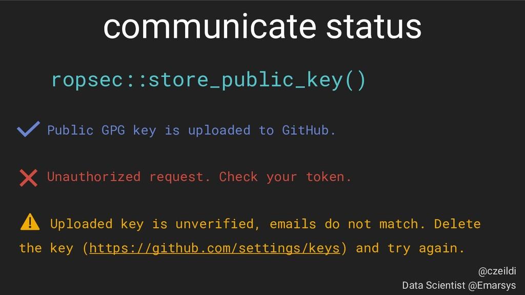 ropsec::store_public_key() Public GPG key is up...