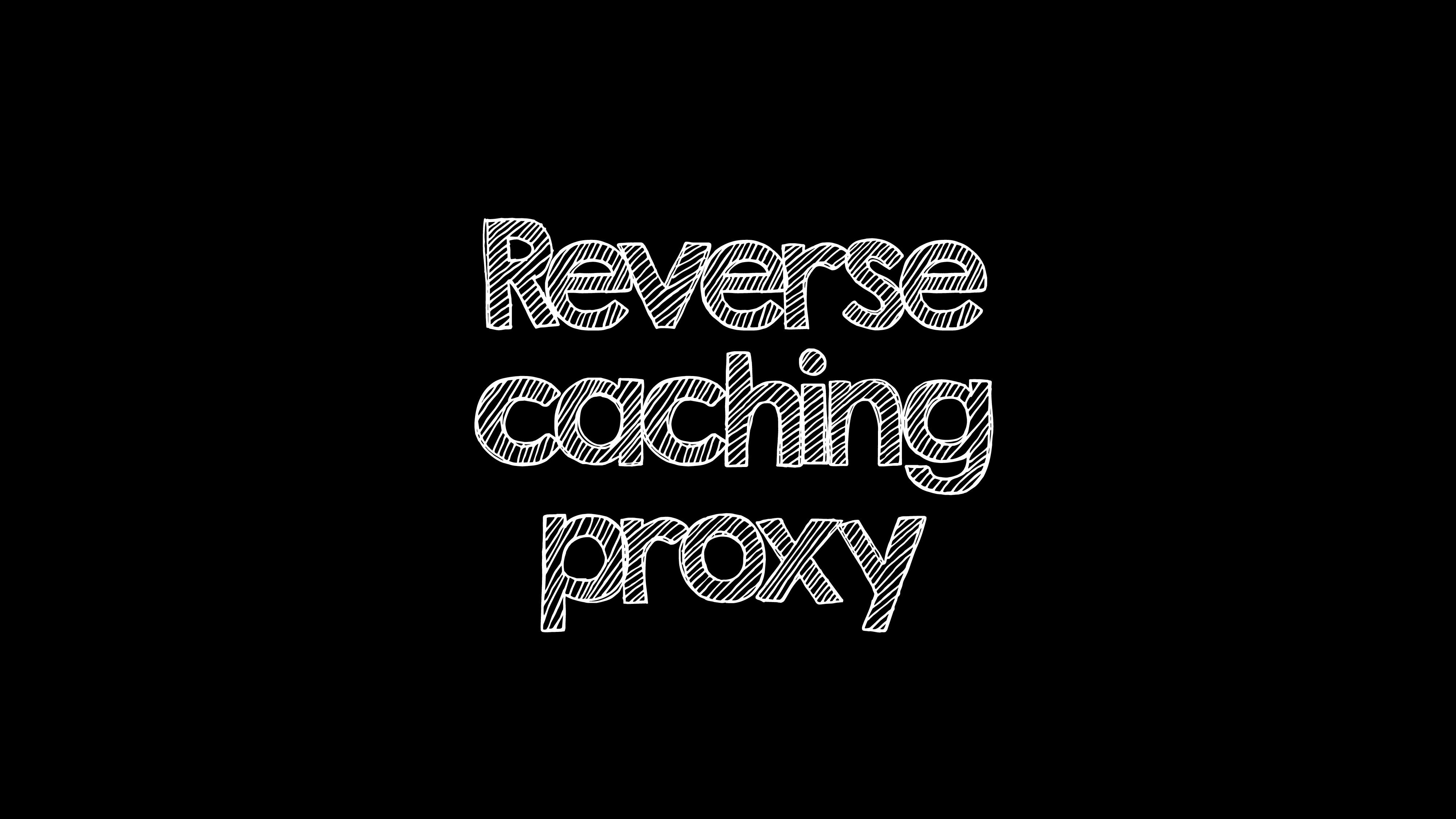 Reverse caching proxy