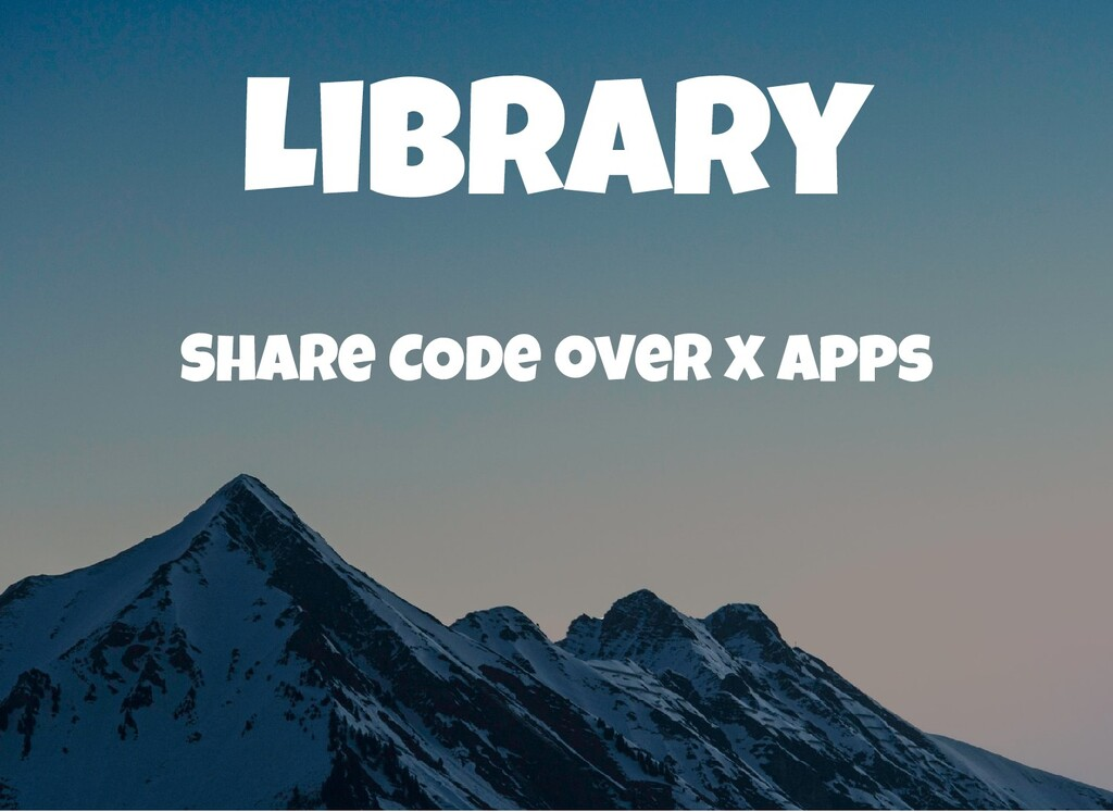 Library Share COde over x apps