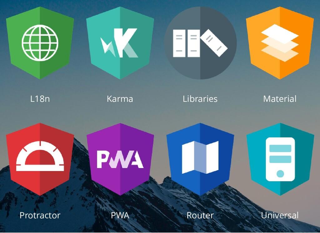 L18n Karma Libraries Material Protractor PWA Ro...