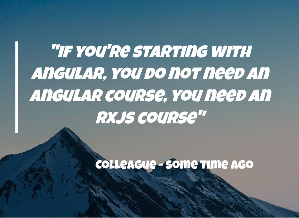 """""""if you're starting with angular, you do not ne..."""