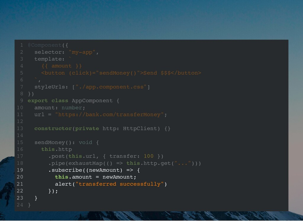 """@Component({ selector: """"my-app"""", template: ` {{..."""