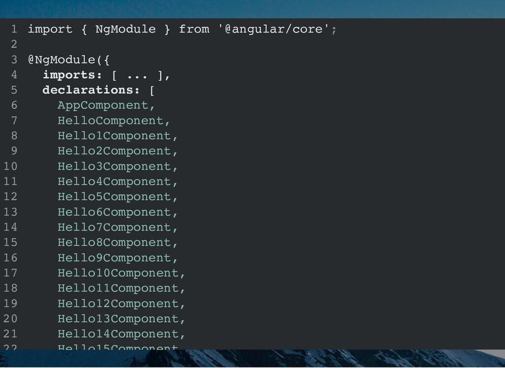 import { NgModule } from '@angular/core'; @NgMo...
