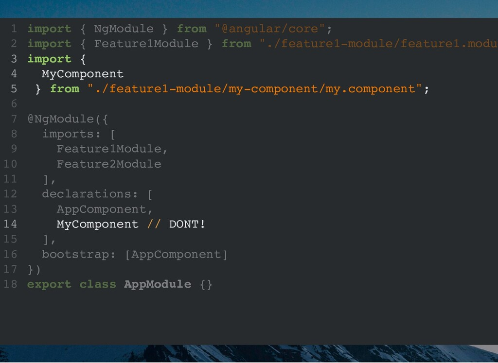 """import { NgModule } from """"@angular/core""""; impor..."""