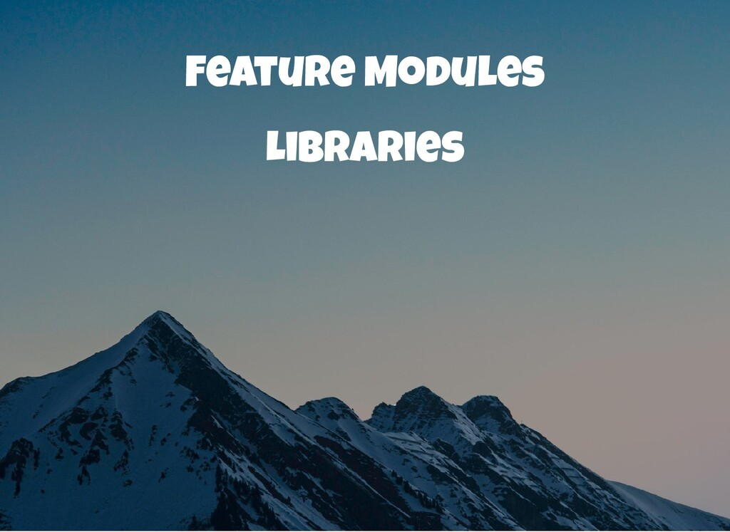 Feature Modules Libraries