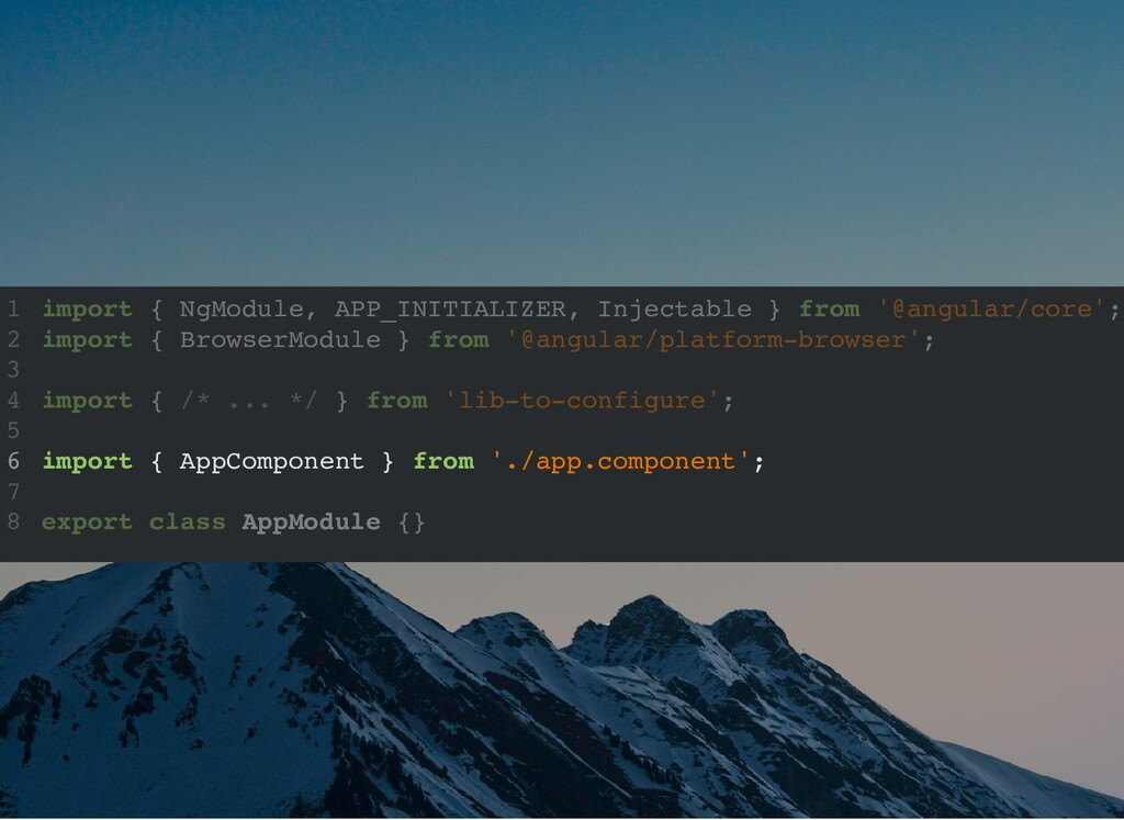 import { NgModule, APP_INITIALIZER, Injectable ...