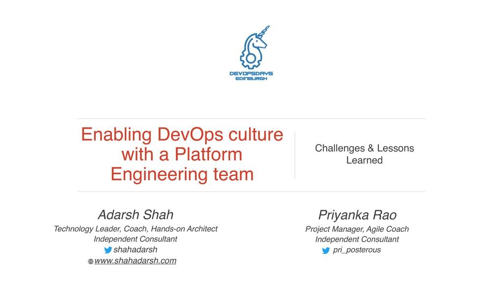 Adarsh Shah Technology Leader, Coach, Hands-on ...