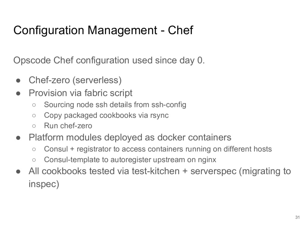 Configuration Management - Chef Opscode Chef co...