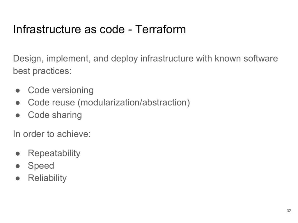 Infrastructure as code - Terraform Design, impl...
