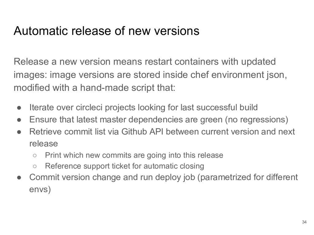 Automatic release of new versions Release a new...