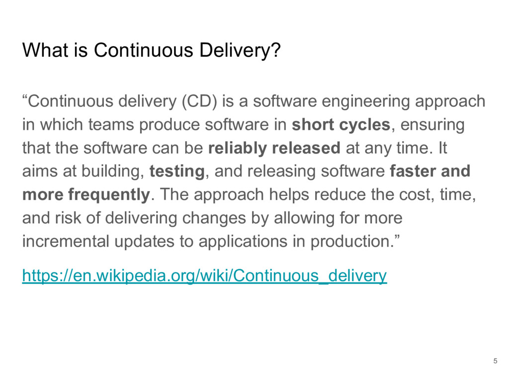 "What is Continuous Delivery? ""Continuous delive..."