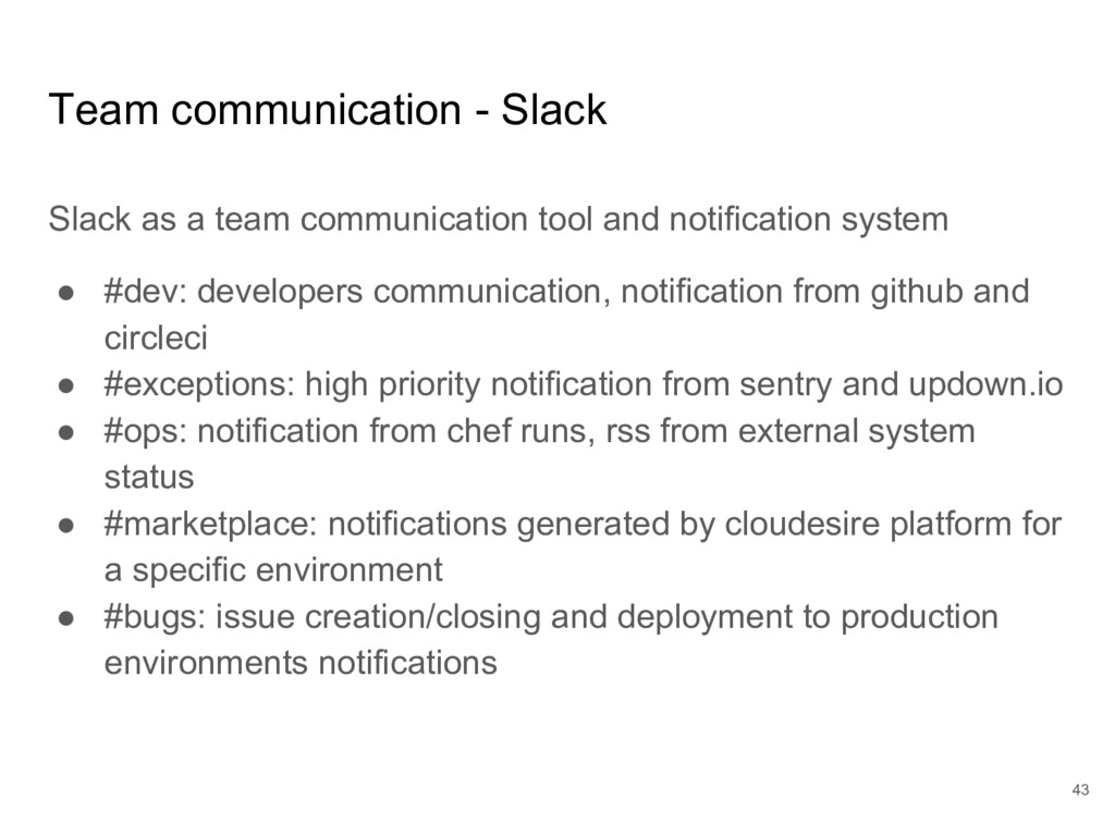 Team communication - Slack Slack as a team comm...