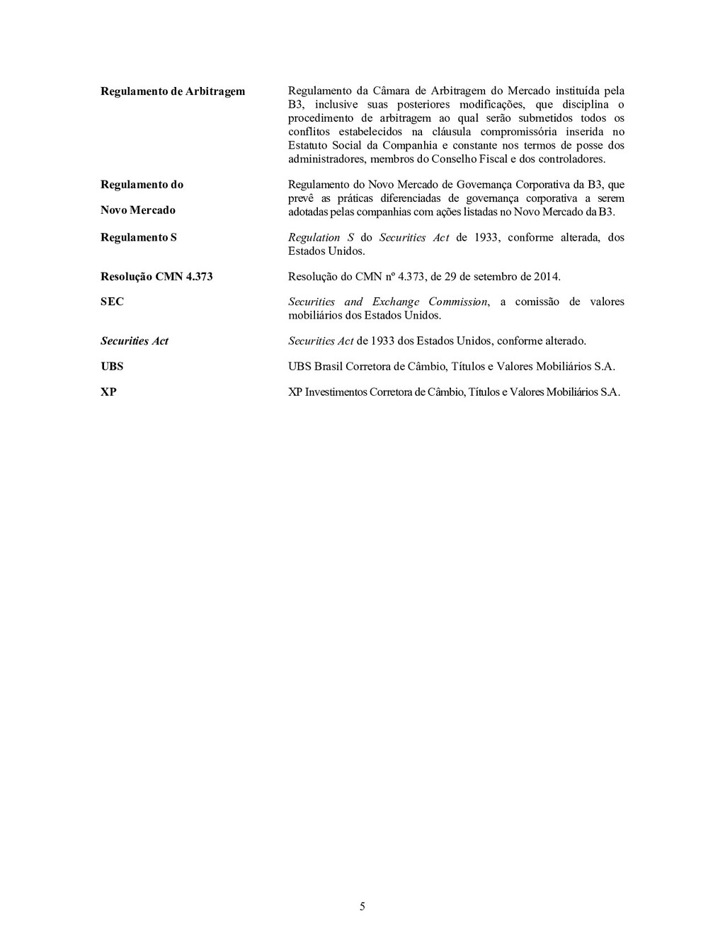 5 Regulamento de Arbitragem Regulamento da Câma...