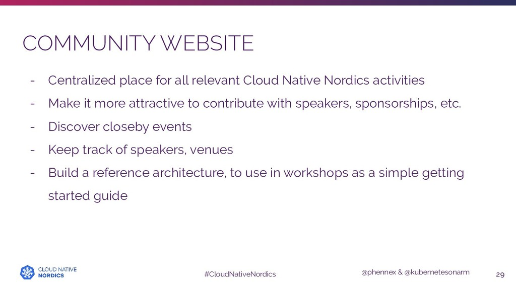 @phennex & @kubernetesonarm #CloudNativeNordics...