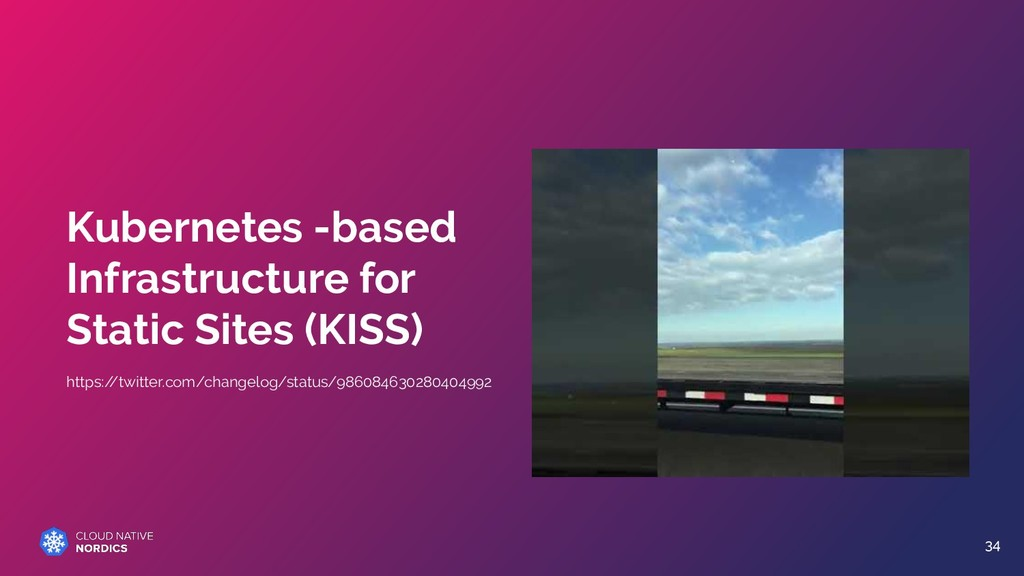 Kubernetes -based Infrastructure for Static Sit...
