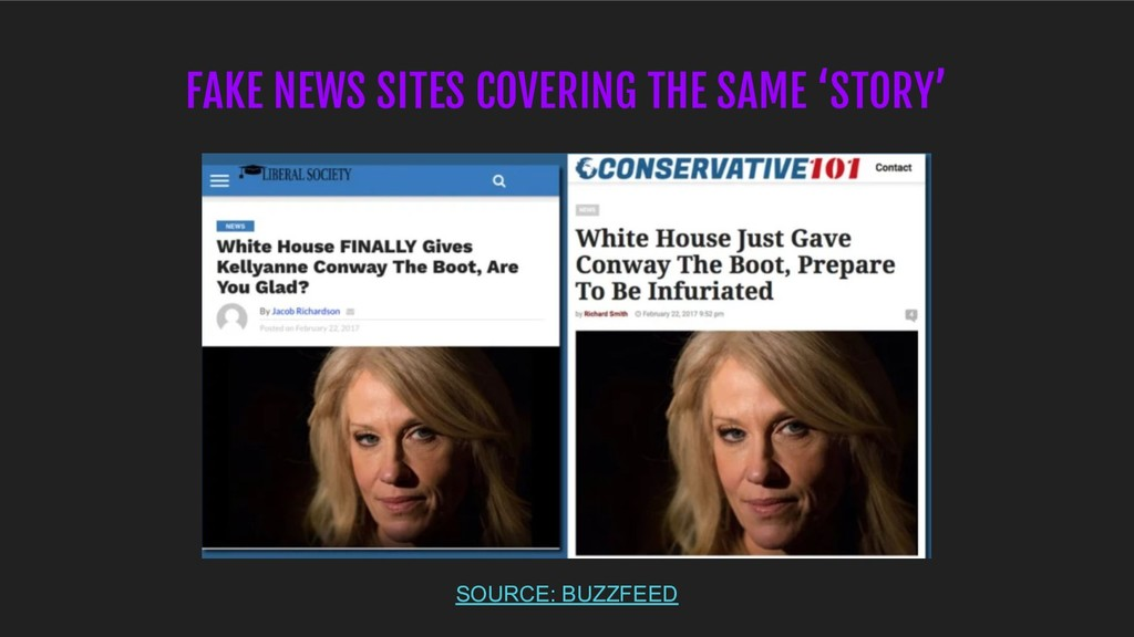 FAKE NEWS SITES COVERING THE SAME 'STORY' SOURC...