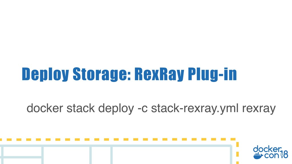 Deploy Storage: RexRay Plug-in docker stack dep...