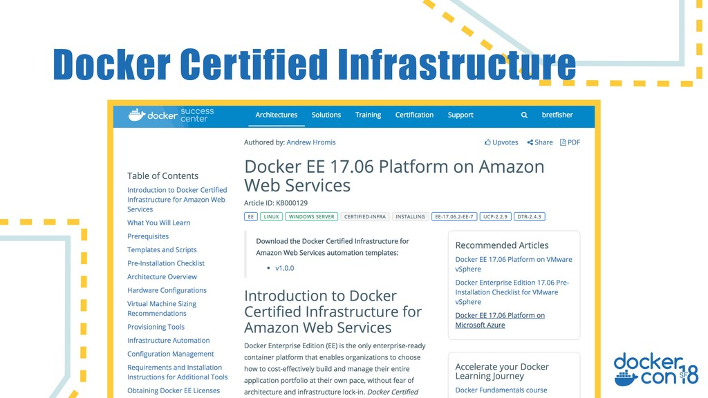 Docker Certified Infrastructure