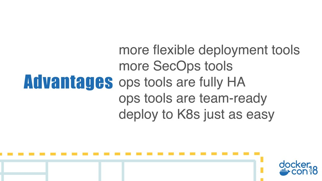 Advantages more flexible deployment tools more ...