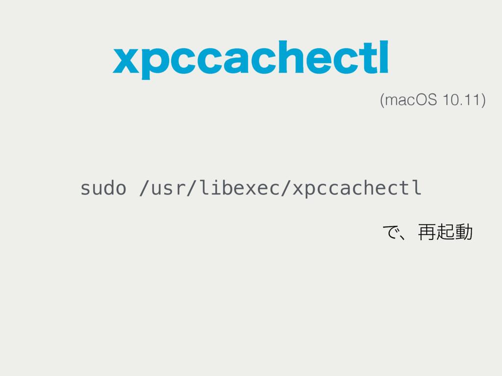 YQDDBDIFDUM sudo /usr/libexec/xpccachectl Ͱɺ࠶ىಈ...