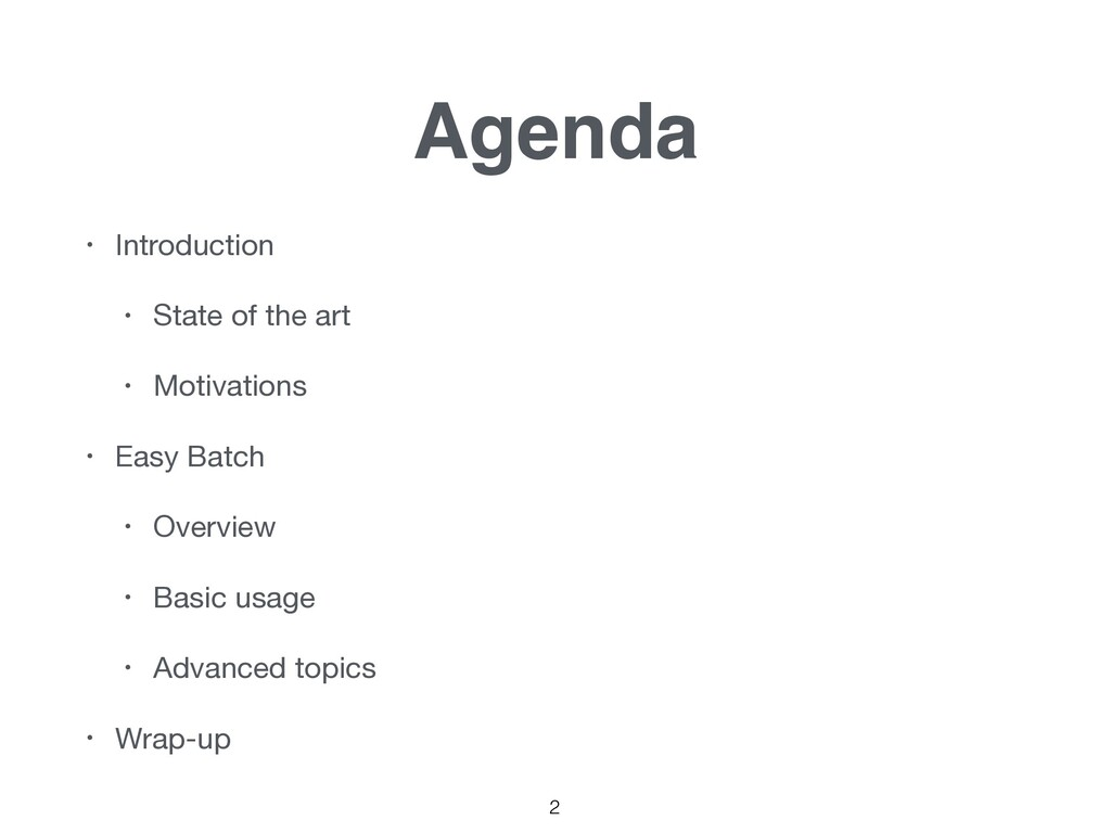 2 Agenda • Introduction  • State of the art  • ...