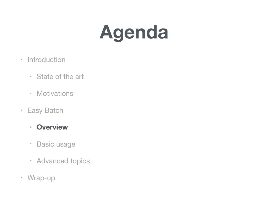 Agenda • Introduction  • State of the art  • Mo...