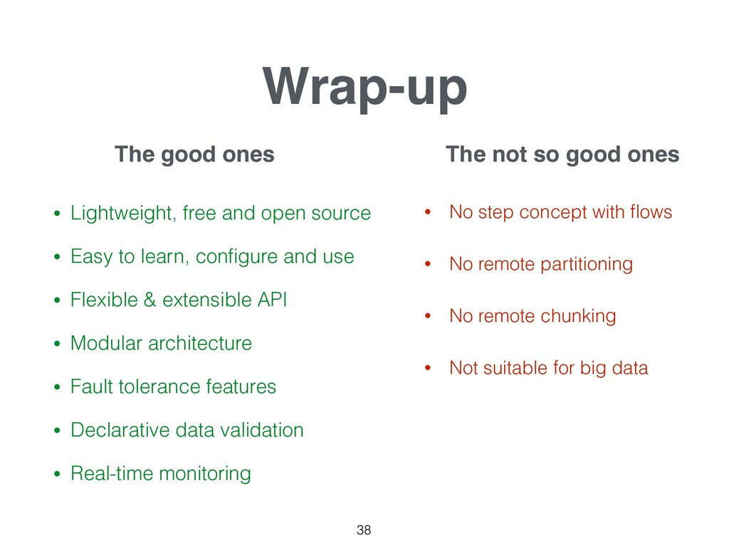 Wrap-up • Lightweight, free and open source • E...