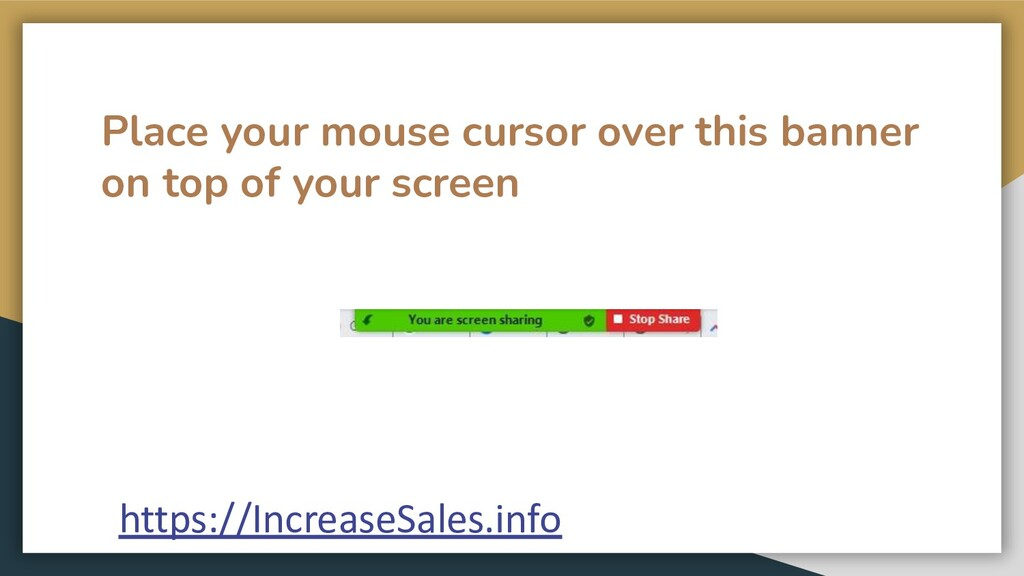 Place your mouse cursor over this banner on top...