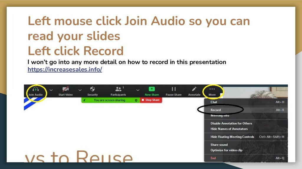 Left mouse click Join Audio so you can read you...