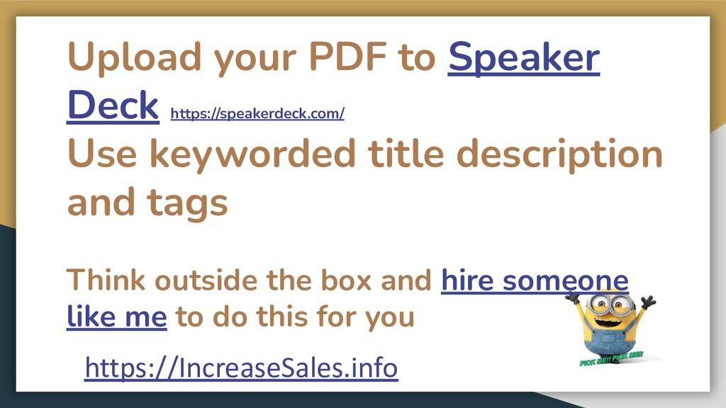 Upload your PDF to Speaker Deck https://speaker...